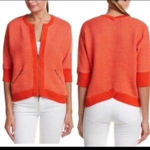 cabi Knit Cocoon Cropped Cardigan Sweater with Zip